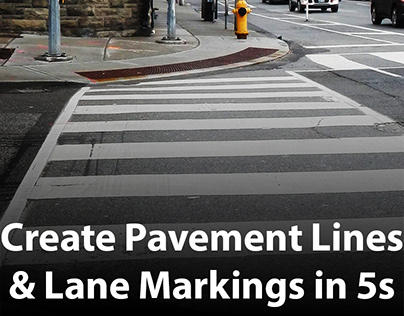 How to create Pavement Lines & Lane Markings in 5 secon
