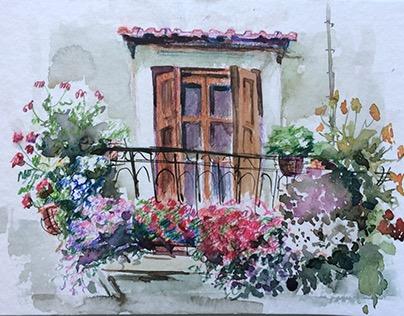 balcony in Rethymno