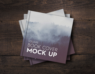Square Book Cover Mock-UP - NEW PRICE