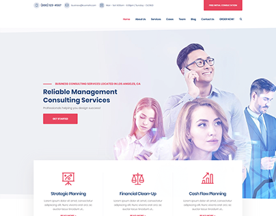 Business Consulting -Wordpress