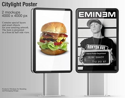 Citylight Poster Mockup PSD
