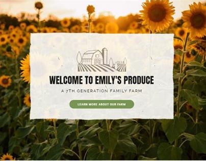 Emily's Produce - Branding + Website