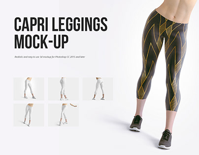 Capri Leggings Mockup Set