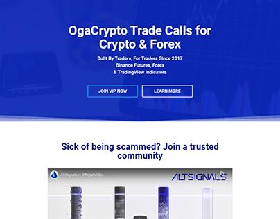 Simple Crypto Landing Page