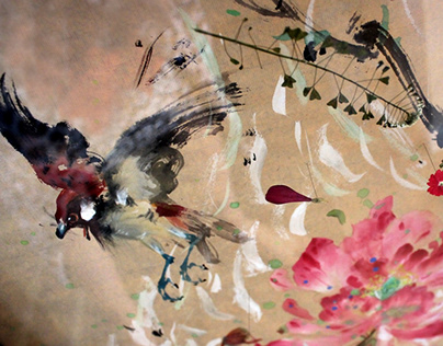 Chinese Impressionist Bird Paintings by Anita Yan Wong