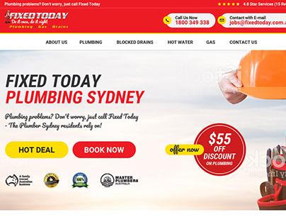 High quality plumbing website design
