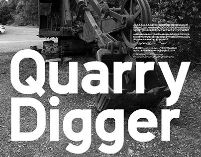 Quarry Digger - A free Sans Serif Typeface