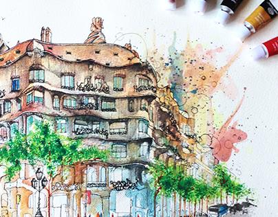 Casa Mila, Barcelona Travel Diaries