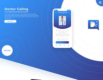 Docotor Calling | Landing Page | Minimal Design