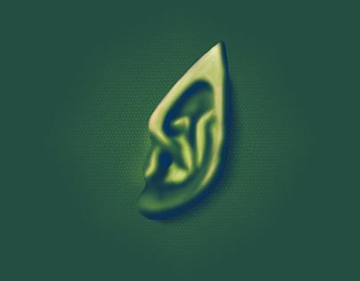 Digital Paint Reptile Skin Ear