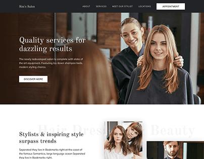 Beauty Lounge Salon Website