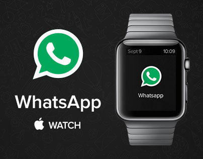 WhatsApp Apple Watch Redesign Concept Free PSD