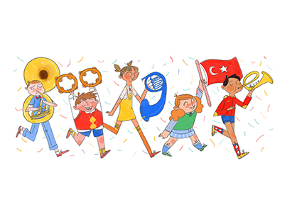 Google Doodle / National Sovereignty and Children's Day