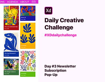 Day #3 Brutal Newsletter Subscription Pop-Up
