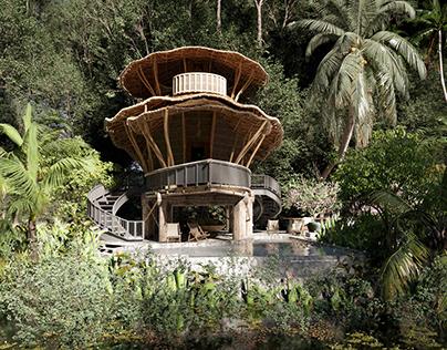 Villa Bali- Vray Render
