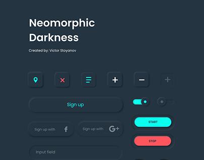 Neomorphic Darkness - Free UI Kit