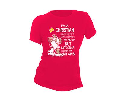 I'm a christian i not perfect t shirt design