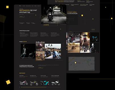 Мотошкола редизайн UI/UX
