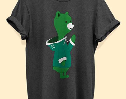 Green cartoon bear