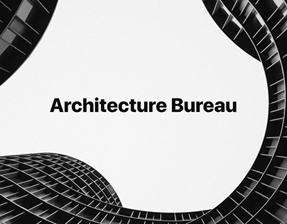 Minimalist design for Architecture bureau from Russia