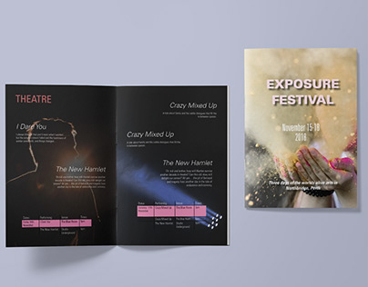Designing a little booklet for the Exposure Festival