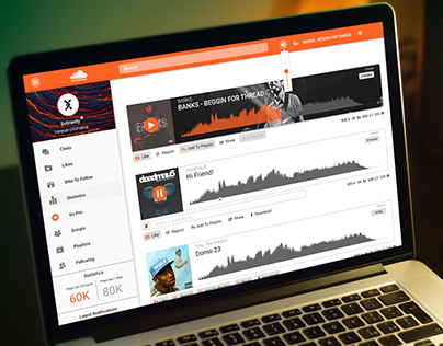 Soundcloud Site Redesign