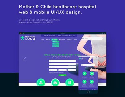 Hospital Web & Mobile UI/UX Design