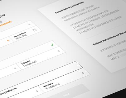 Customer portal for rental service