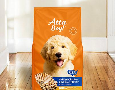 Atta Boy Dog Food Packaging
