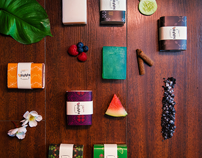Handmade Soaps- Branding and packaging.