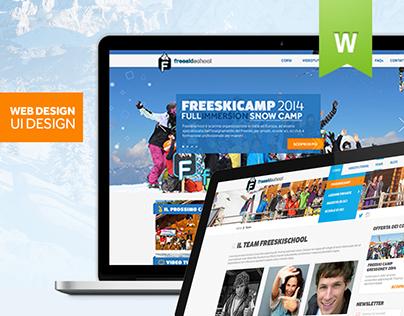 Webiste UI Design - Freeskischool