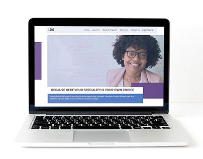 UI Design for Medical Coaching Institute