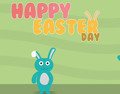"Illustration et animation ""Happy Easter day"""
