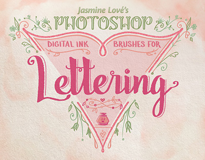 Digital-Ink Lettering Brushes for Photoshop