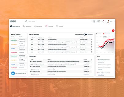Valuation Dashboard UI Design: Web app