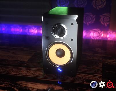 Studio Monitor Speakers Design and 3D Modeling