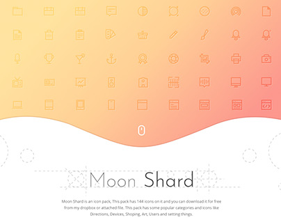 Freebie : MoonShard Icon Set (144 Icons)
