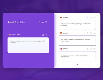 MultiTranslator   Web and Mobile App Concept