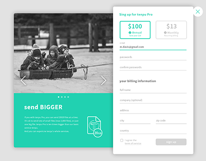 DailyUI #001 _ sign up