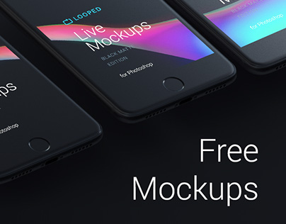 Looped Live Mockups | Black Edition