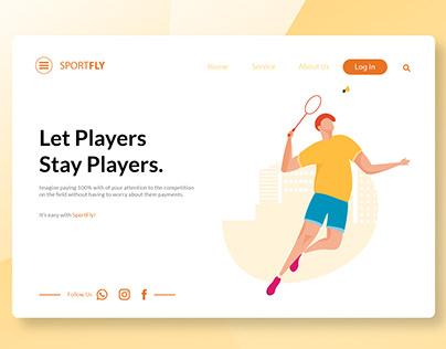 Landing Page Badminton Sport