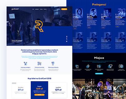 GrafConf 2018 - design conference website