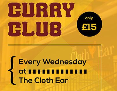 Curry club flyer