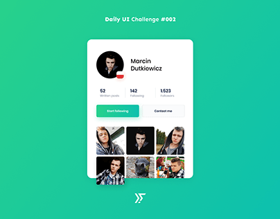Daily UI #002 - User Profile