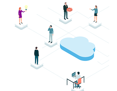 Cloud solution website design