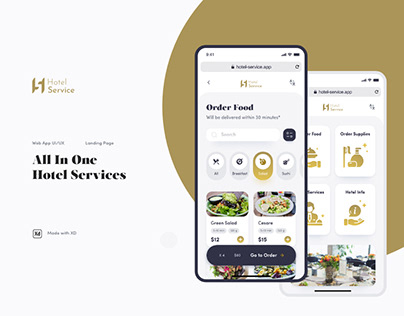Hotel Service Web App and Landing Page