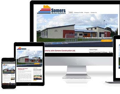 John Somers Construction Website Redevelopment