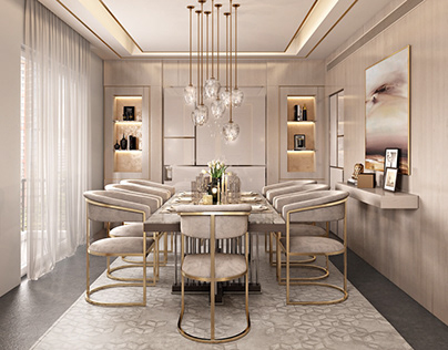 3D Rendering for a Dining Room Project in NY