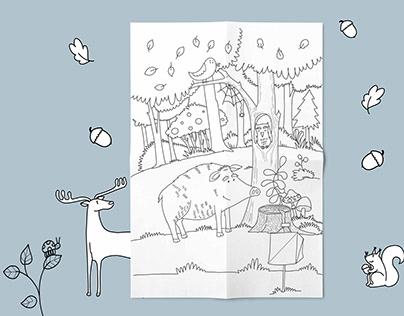 Leśne ilustracje _Forest illustration