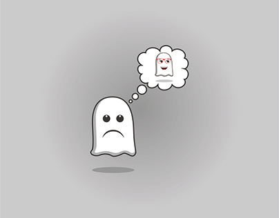 Cute ghost miss emoticon